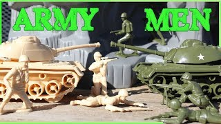 Unboxing Plastic Army Men Battle Mountain Tanks Jeeps & Toy Soldiers