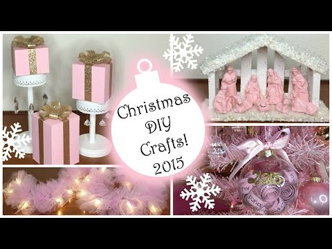 Christmas DIY Crafts 2015! ♡ PART 2 ♡ Pink Christmas Decorations