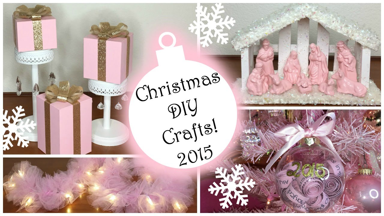 Christmas DIY Crafts 2015! ♡ PART 2 ♡ Pink Christmas Decorations ...