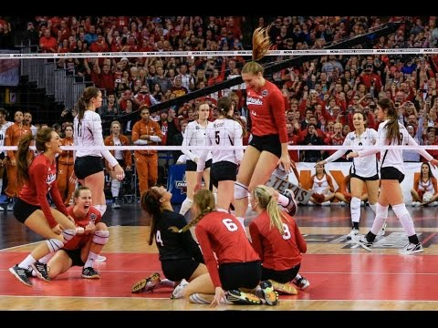 NCAA 2015 Finals Highlights - Nebraska vs Texas (women's volleyball)