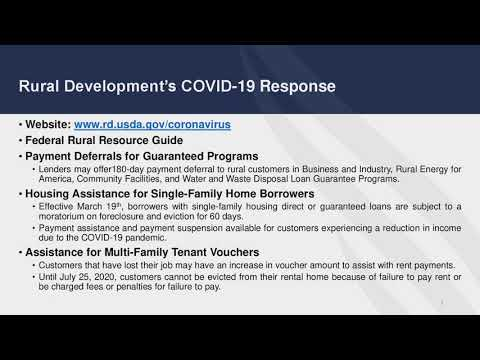 Webinar: COVID-19 Economic Impacts and Mitigation in Rural Communities