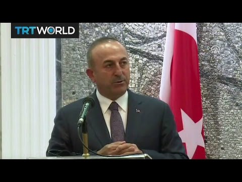 """Turkish Foreign Minister Cavusoglu says arming YPG is a """"threat"""""""