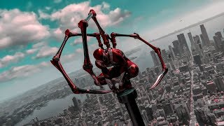 Jumping from Empire State (Claws On) New Iron Spider Suit- Marvels Spider-Man (PS4)