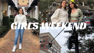 GIRLS WEEKEND PT. 2 | grocery shopping, getting ready, exploring park ave, cafe, photoshoot | VLOG