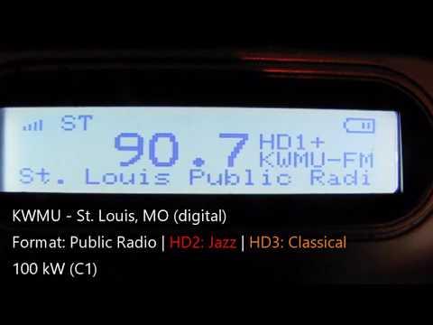 FM Radio Bandscan - St. Louis, Missouri (HD Radio)