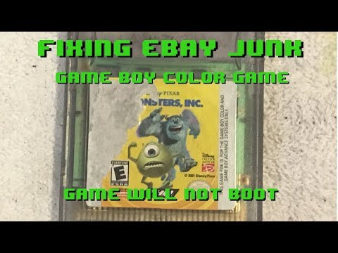 Fixing eBay Junk - Game Boy Color Game - Game won't boot up