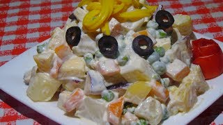 Russian Salad Recipe - Healthy Salad Recipe - Salad Recipe by Lively Cooking