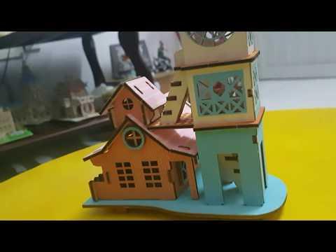 Bộ Lắp ráp mô hình nhà nông trại bằng gỗ [ Miniature Farm house model ] Woodcraft assembly kit 3D