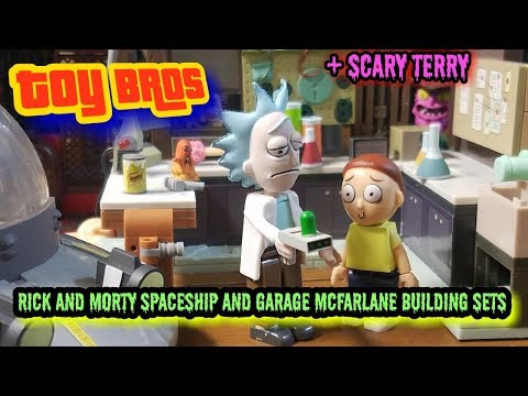 Rick and morty spaceship and garage toy review