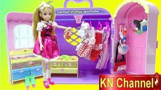 Đồ chơi trẻ em PHÒNG QUẦN ÁO TRANG ĐIỂM CỦA BÚP BÊ LELIA Fashion Change wardrobe