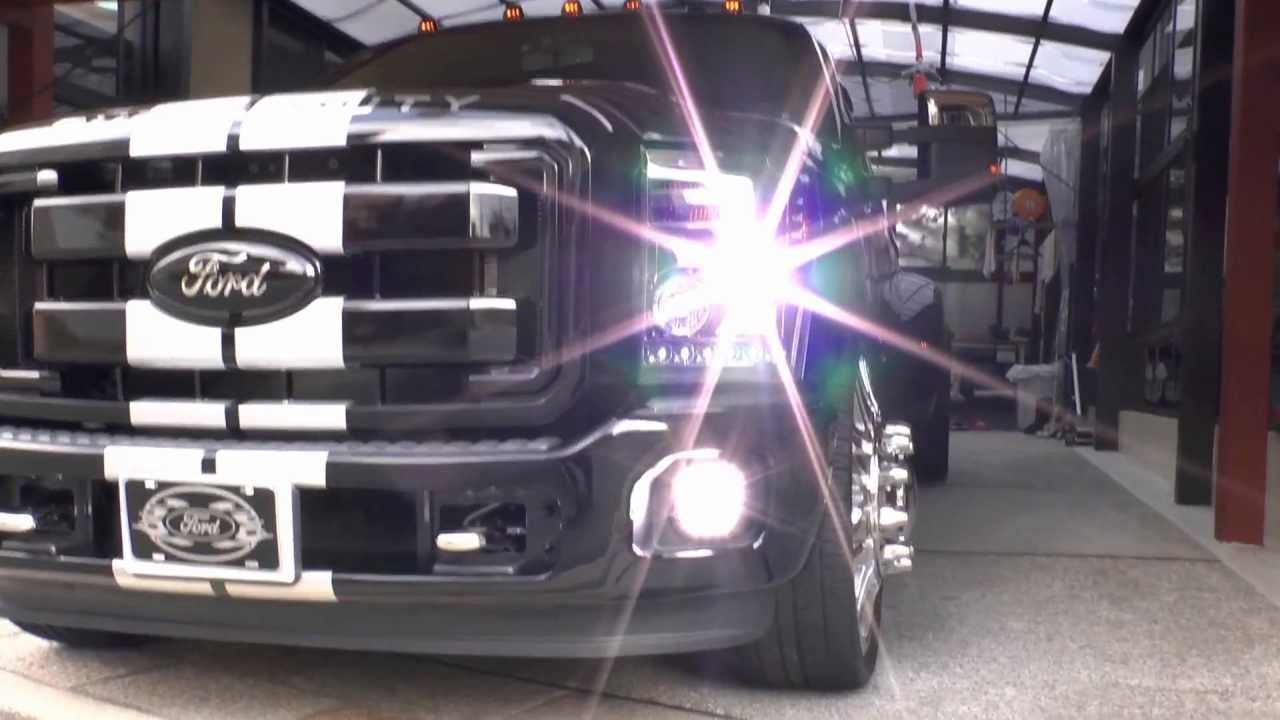 "Ford Super Duty >> 2012 Ford F-350 Dually LOWERD on 26"" Wheels デューリー アメ車 ロー ..."
