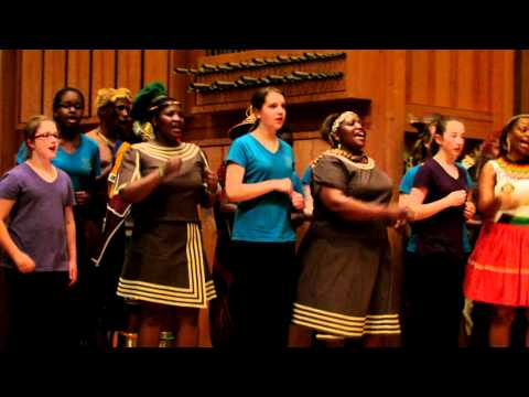 Nelson Mandela Tribute - Boston City Singers and Imilonji KaNtu Choral Society Sing[HD] - 6/23/12