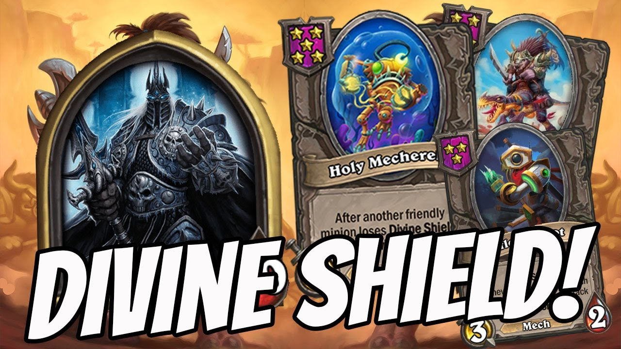 OMG WHAT IS THIS DIVINE SHIELD COMP?! | Hearthstone Battlegrounds