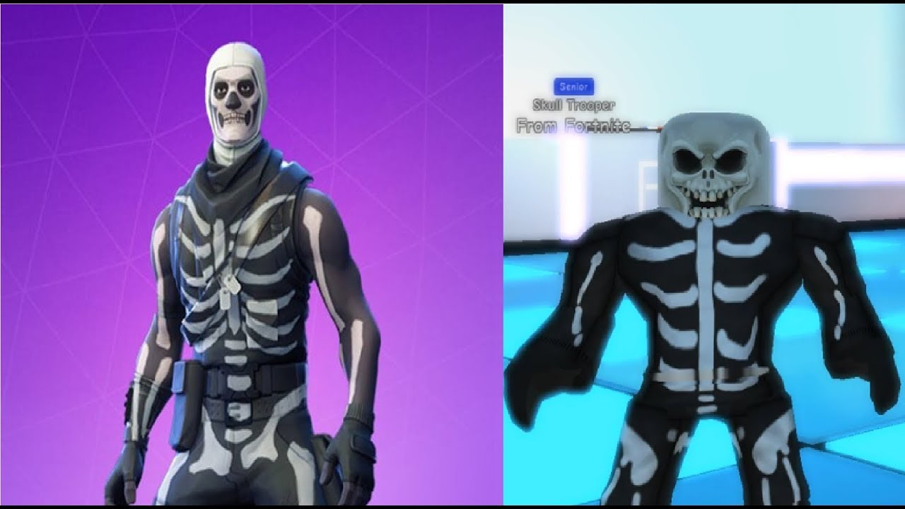 Roblox Robloxian High School How To Be Skull Trooper From Fortnite