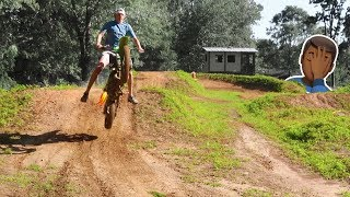 His First Time on a 2 Stroke.....(Powerband Kicks in)