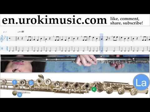 Flute lessons Happy - Birthday Sheet Music Tutorial Part#2 um-b352