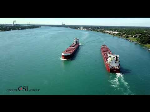 Iron Ore Loading and Discharge Operation, MV Baie Comeau, Superior, Wisconsin to Québec City