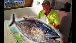 СМЕШНОЕ Видео с ТУНЦОМ | ЧТО ДЕЛАТЬ когда поймал большую рыбу на Яхте | КАПИТАН КОСТЯ