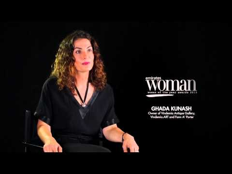 Emirates Woman Woman Of The Year Awards 2015, Artists Nominee — GHADA KUNASH