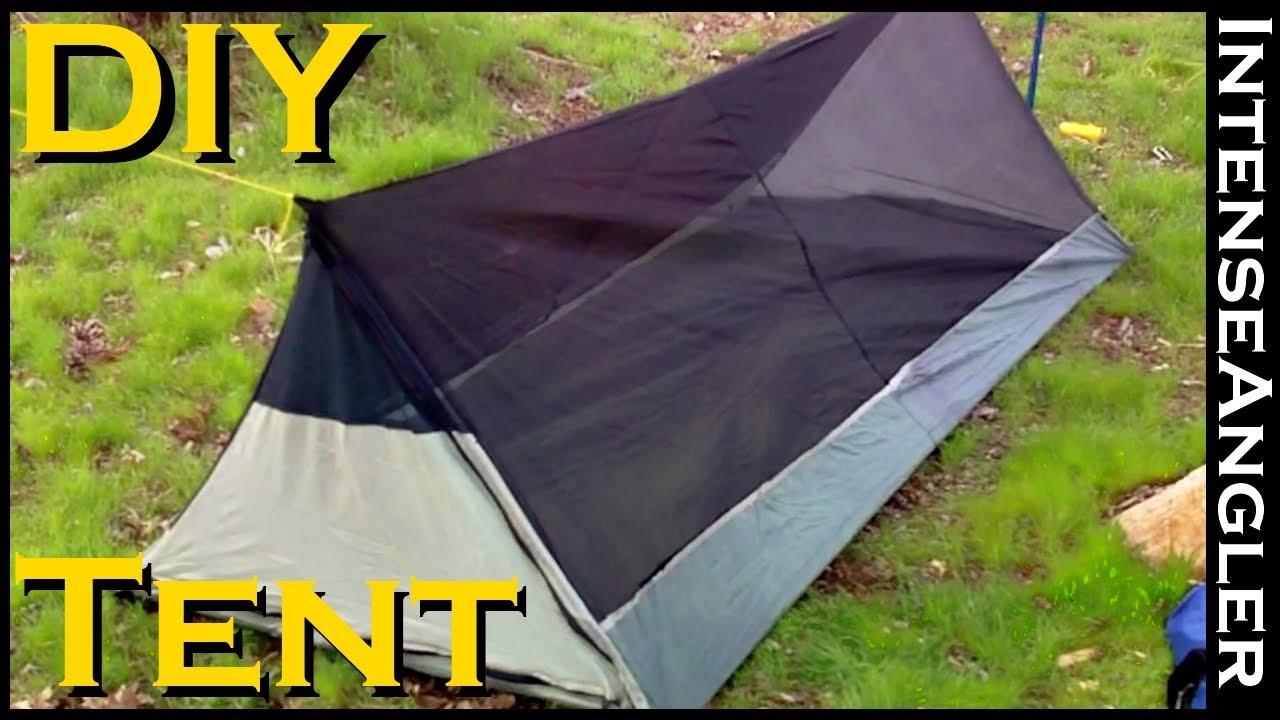 Homemade Ultra Lightweight Bivy Tent For Backpacking & Homemade Ultra Lightweight Bivy Tent For Backpacking - YouTube
