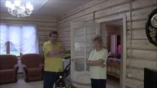 Рубленый дом. Система отопления.(http://www.teplowoda.ru Особенности монтажа труб в доме с неровными стенами. Управление электрическим котлом по СМС., 2015-07-27T15:38:01.000Z)