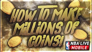 HOW TO MAKE MILLIONS OF COINS IN NBA LIVE MOBILE! SICK FILTER TO MAKE TONS OF CASH!