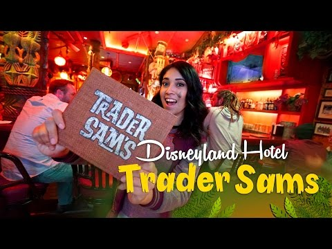 Traders Sam's Enchanted Tiki Bar at The Disneyland Hotel! Disney Food and Drinks