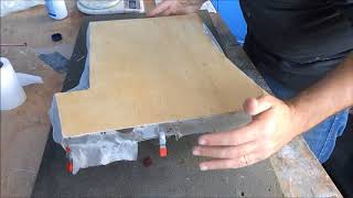 Tecnica para fibrar aeromodelo RC - glassing RC plane