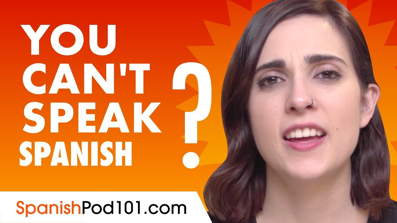 If You Understand Spanish But Can't Speak it   This video is for You!