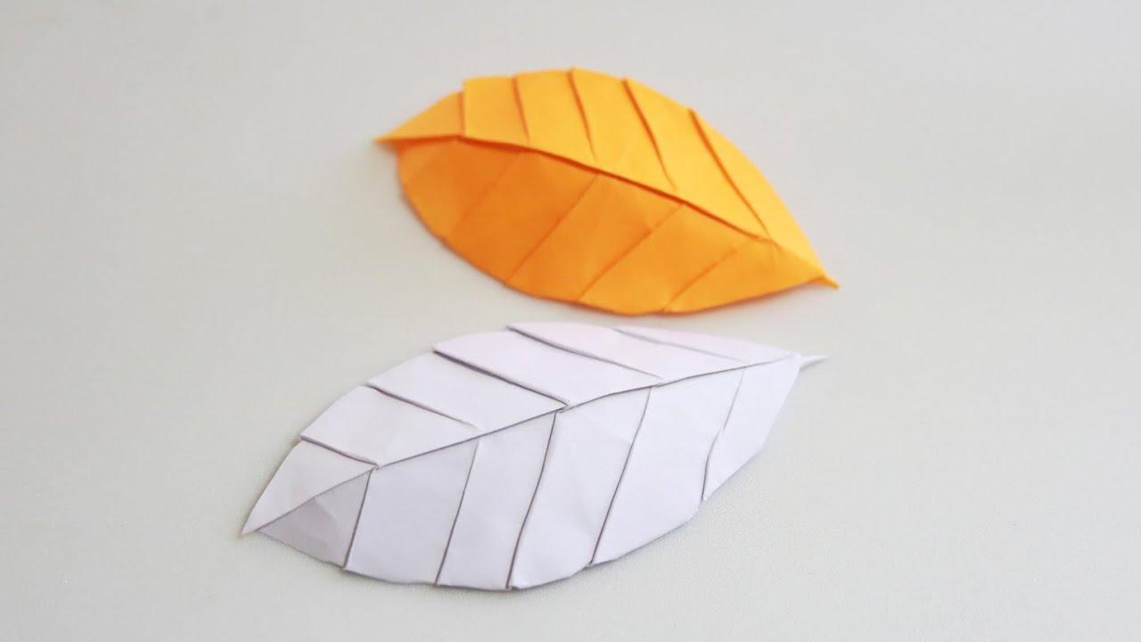 Paper Leaf - Origami Leaf tutorial (Henry Phạm) - YouTube - photo#32
