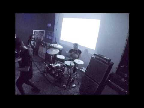 """Clara Warnaar drums on """"Datadealer"""" with Infinity Shred at Shea Stadium in Brooklyn on 11/18/16"""