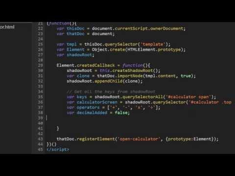 Web Components Tutorial