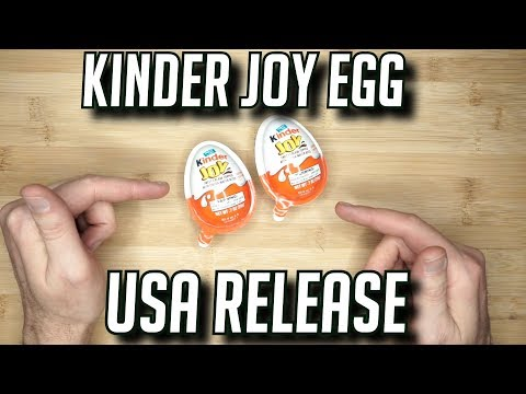 KINDER EGG USA EDITION OPENING & WHY CAN'T YOU GET REAL ONES