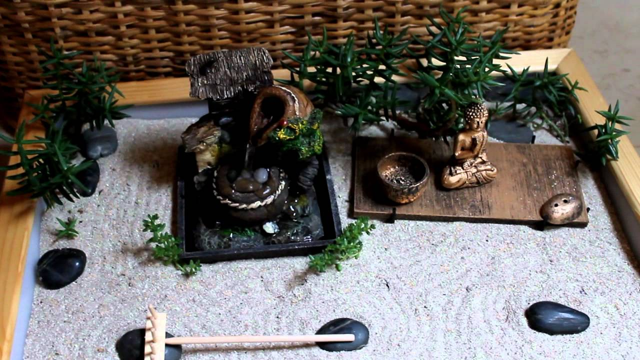 Mini jardin zen abril 2012 youtube for Jardin japonais miniature