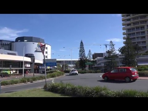 New South Wales & Queensland State Border at Tweed Heads in 4K