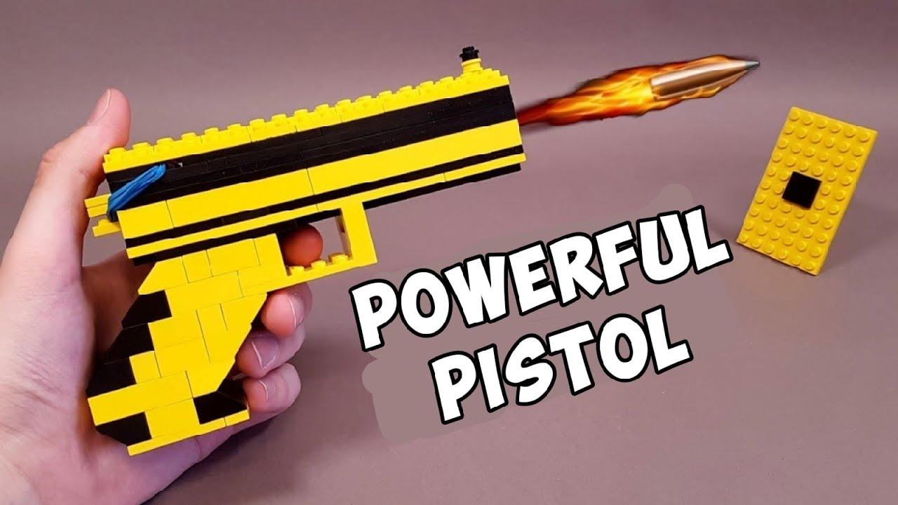 HOW TO MAKE A LEGO PISTOL WITHOUT TECHNIC