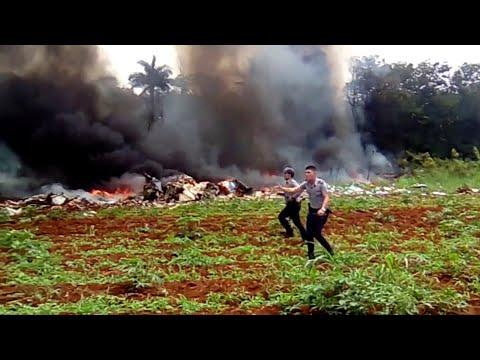 Cuban Boeing 737 plummets into yuca field after takeoff from Havana