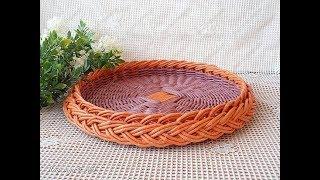 Уроки плетения из газетных трубочек