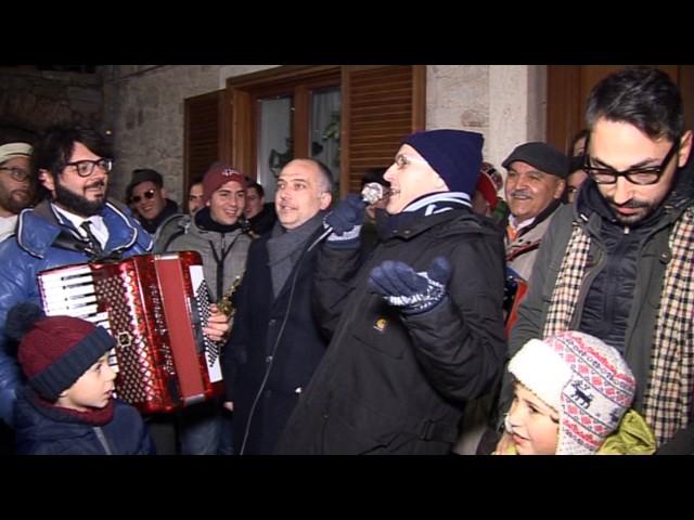 Gambatesa 31-12-2016: benedizione delle squadre - i fuochi