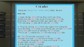 Hiển thị (lời + điệu + hộp âm... ) một bài hát bất kỳ trên đàn organ _ clip 1
