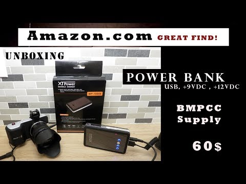 Great Power Bank   MP-10000   2 usb ports , +9VDC and  +12VDC power source