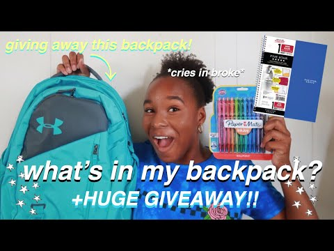 🚨HUGE BACK TO SCHOOL GIVEAWAY 2019! what's in my backpack+supplies haul   Lyla Faith