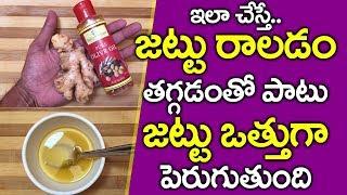 ఈ రెండు కలిపి రాసుకుంటే జుట్టు ఊడమన్న ఊడదు I Hair Fall Tips in Telugu I Everything in Telugu