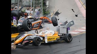 Macau Grand Prix 2018- F3 accident (Sophia Flörsch) thumbnail