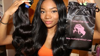 Initial Review| Tickled Pink Mink Peruvian Body Wave
