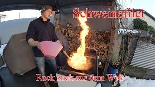 Schweinefilet - Ruck zuck aus dem Wok - im Grill & Chill Style ( Low Carb)