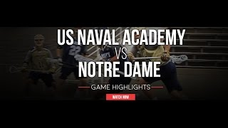 Notre Dame vs US Naval Academy | 2016 Fall Lacrosse Highlights