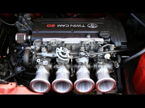 Toyota MR2 20V Blacktop with new 75mm velocity stacks - PURE ENGINE SOUND