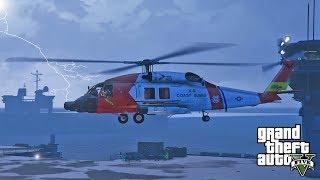 GTA 5 - U.S. Navy and Coast Guard Hurricane Michael Rescue Operations!