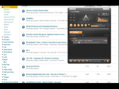 Как слушать радио из каталогов Icecast и Shoutcast в AIMP